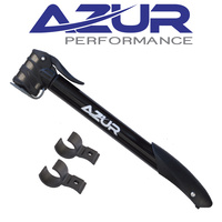 Azur Bike/Cycling Pump - Cyclone - Dual Head Mini Pump - 260mm