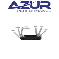 Azur Bike Multi Tool - Allen Key-Torx-Screwrdiver - 6 Function