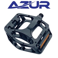 "Azur Bike Pedals - Rail Pedals - 9/16"" - One Piece Alloy - Black"