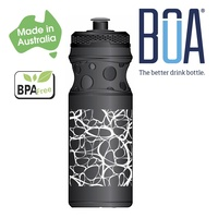 BOA Drink Bottle - BPA Free - 650ml - Black / White