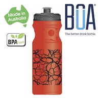 BOA Drink Bottle - BPA Free - 650ml - Red / Black
