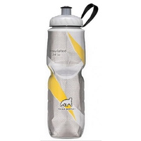 Polar Sport Water Bottle - 700ml Insulated - Pattern Yellow