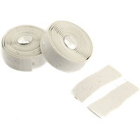 Velo Bike/Cycling Bar Tape - Cork Gel Tape - Tacky When Wet - Pack 2 - White