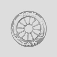 Yak - Scooter Wheel - Single - Plastic Core - 100mm x 88A - Silver/White