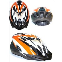 Profile - Bike/Cycling Helmet - Single In-Mould - 58-62cm - M/L - Orange/Black/Silver