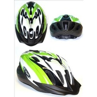Profile - Bike/Cycling Helmet - Single In-Mould - 58-62cm - M/L - Green/Black/Silver