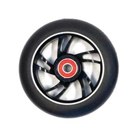 Bulletproof - Scooter Wheel - Single - Alloy Core - 100mm - Suit 8mm Axle - Black