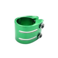 Bulletproof - Dual Scooter Clamps - 31.8mm - Anodized Green