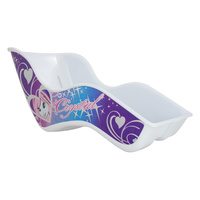 Bikes Up Doll Carrier - Crystal Design Blue / Purple Doll Bike Seat