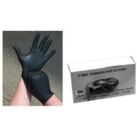 NBR Bike/Cycling Tools - Workshop Gloves - Powder Free - Box 100 - Black - L