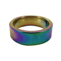 Alloy Scooter / Bike Headset Spacer 1 1/8 Inch x 10mm - Oil Slick / Rainbow