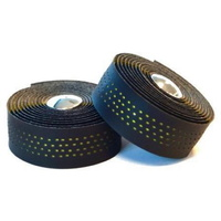 Endzone Bike/Cycling Bar Tape - Shockproof Microfibre W/ Bar Plugs - Black/Yellow