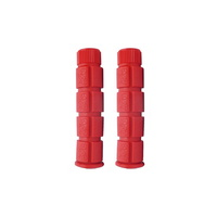 Pro Series Bike/Cycling Grips - MTB Closed End Grips - 120mm - Red