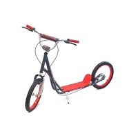 "Holstar - Scooter - 16"" Kids Scooter - Mini Kick Stand - Red/Grey"