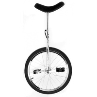 "Holstar - Unicycle - 20"" - Chrome Plated Steel Frame - Includes Unicycle Stand"