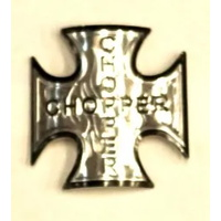 Retro Bike Name Plate - Chopper Silver Design