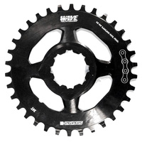 SR Suntour Bike/Cycling Chainring - 34T (BT) For Aion Chainwheel - Alloy - Black