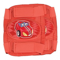 Oxford Kids Pad Set - Little Racers Elbow & Knee Set - Red