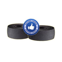 Velo Bike/Cycling Bar Tape - Suede Texture - Microfibre / VexGel Padding - Black