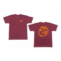 BSD BMX T-Shirt - Melting Acid - Burgundy - S