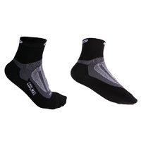 BBB Cycling Socks - BSO-04  ErgoFeet CoolMax - Black - Medium