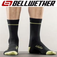 Bellwether Cycling / Bike Socks - Optime Socks - Black / Hi-Vis