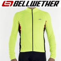 Bellwether Cycling / Bike Jersey - Men's Long Sleeve Draft Jersey - Hi-Vis - M