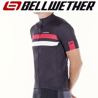 Bellwether Cycling / Bike Jersey - Men's Edge Jersey - Black / Ferrari - L