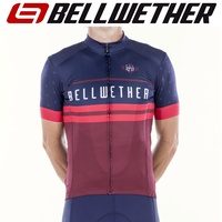 Bellwether Cycling / Bike Jersey - Men's Heritage Jersey - Cyan / Navy - L