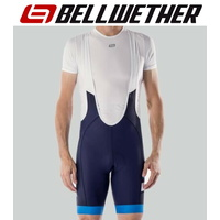Bellwether Cycling / Bike Bibshorts - Men's Edge Bibshorts - Navy / Cyan