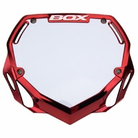 BOX Phase 1 BMX Race Number Plate Pro - Red Chrome Large