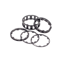 BOX One BMX 1 1/8 Headset Spacer Kit - Black Bike Headset Spacer Kit