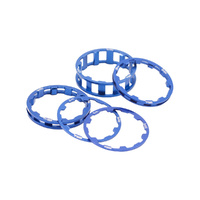 BOX One BMX 1 1/8 Headset Spacer Kit - Blue Bike Headset Spacer Kit