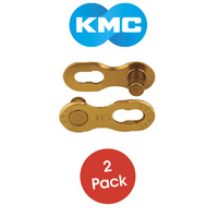 KMC Bike/Cycling Connecting Chain Links - 11 Speed - 2 Pack - Gold