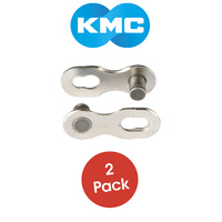 KMC Bike/Cycling Connecting Chain Links - 11 Speed - 2 Pack - Silver