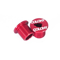 Colony BMX M25 Fork Bolt Top Cap Red