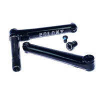 Colony 22's Cranks BMX Bike Cranks - 2 Piece BMX Crankset - Black 175mm