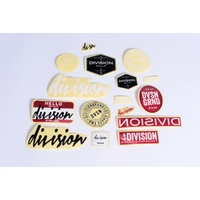Division BMX Genuine Sticker Pack - Self Adhesive Assorted Stickers Pack