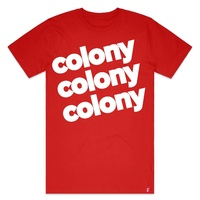 Colony BMX T-Shirt - Lowercase T - Red - Various Sizes