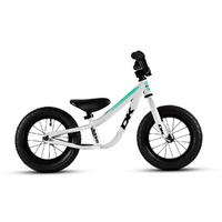 DK Nano Balance Bike 2018 - White with Teal / Black Graphics
