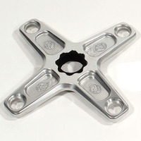 Profile Racing BMX Chainring Spider - 4 Bolt 104BCD Spline Drive - 22mm - Polished