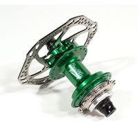 "PROFILE Racing Elite Rear Disc Hub - 36H - 3/8"" Axle - Green"