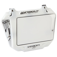 Insight BMX Race Plates - 3D Vision Number Plate - White / White Trim - Pro