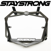Stay Strong BMX Race Plate - Primo 3D Number Plate - Black - Pro
