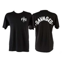 Fitbikeco BMX T-Shirt - Savages - Black - Various Sizes