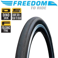 Freedom Road Bike Tyre - Mustang - 700 x 23C Foldable 60TPI - Dino Skin