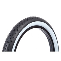 "Fit Bike Co. T/A BMX Tyre 20 x 2.3"" - Black with Whitewall BMX Tire - White Wall"