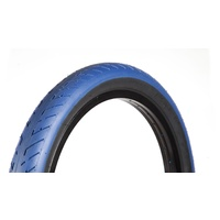 "Fit Bike Co. T/A BMX Tyre 20 x 2.3"" - Blue with Black Wall BMX Tire"