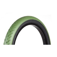 "Fit Bike Co. T/A BMX Tyre 20 x 2.3"" - Green with Black Wall BMX Tire"