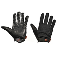 Fuse BMX Gloves - Alpha - Regular - Black Leather - Various Sizes